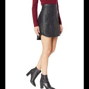 BCBG Black Faux Leather Skirt